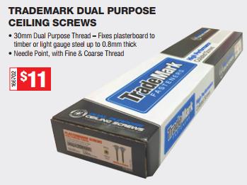 TRADEMARK DUAL PURPOSE SCREWS 30mm